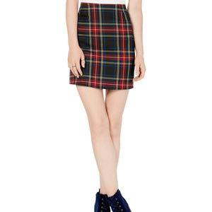 Love Fire Skirt Topson Mini Plaid Sz L NEW NWT